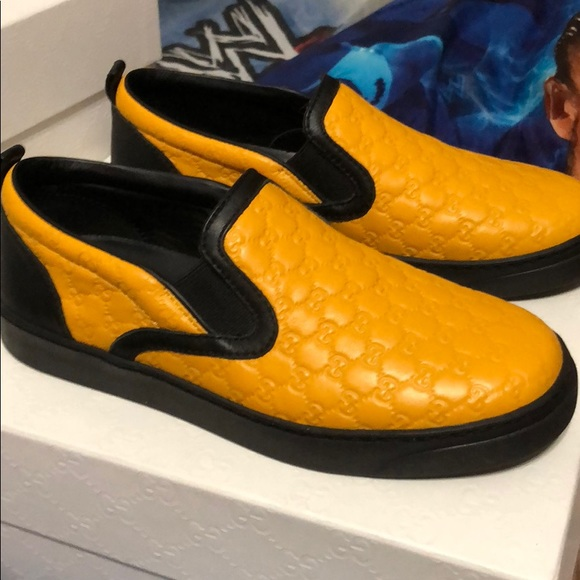 fcec5903d Gucci Shoes | Sneaker Black And Yellow New Never Worn | Poshmark